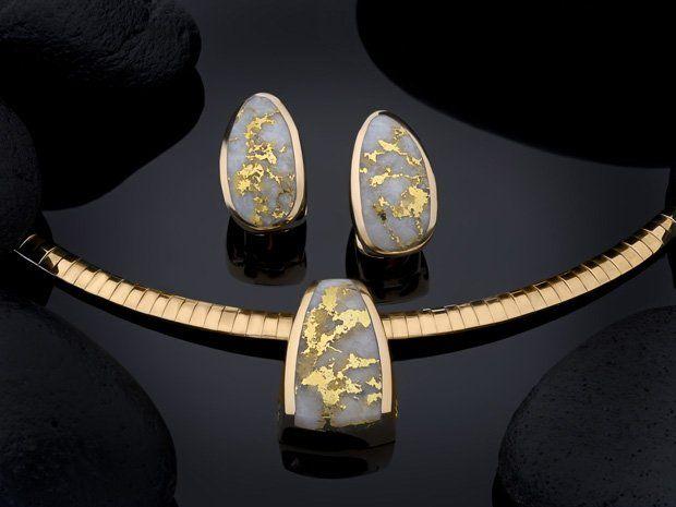 Schmier's Steve Jewelry - California Gold Bearing Quartz