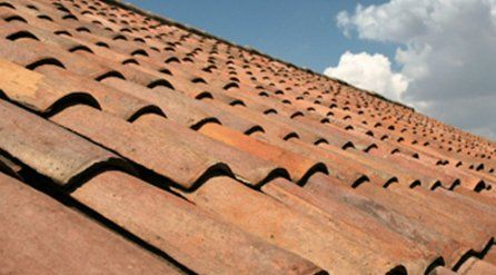 a pantiled pitched roof