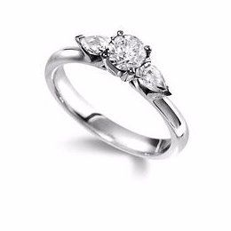 High-quality Multi Stone Engagement Ring