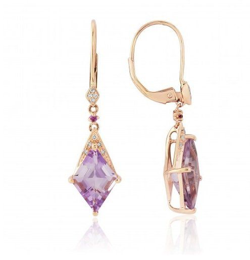 white de pin france rose silver earrings gold amethyst sterling and