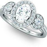 Designer Multi Stone Engagement Ring