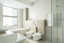 A modern bathroom suite