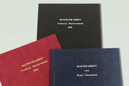 master thesis einband