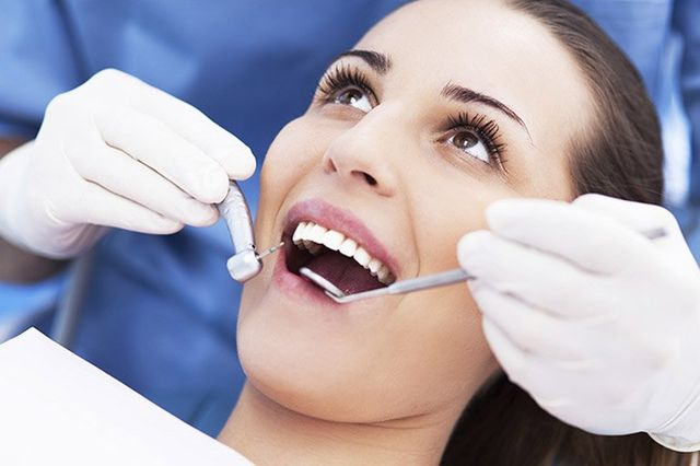 woman having a root canal treatment