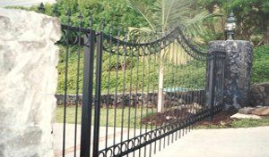 A gate as an example of our welsing work in Kailua-Kona HI