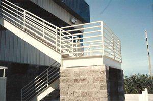 A stair railing created by our welders in Kailua-Kona, HI