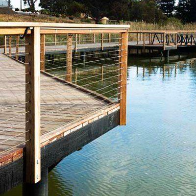 wooden deck over water