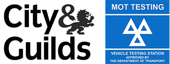 City and Guilds and MOT testing logo
