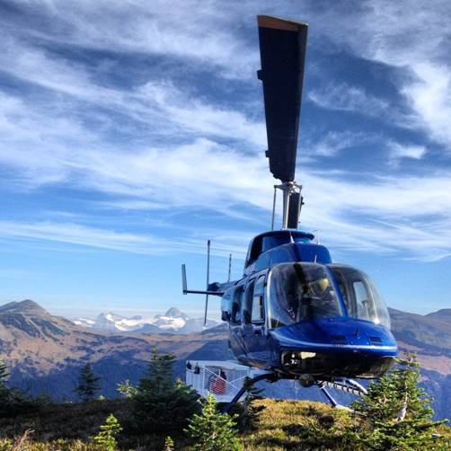 One of our helicopters in Kamloops