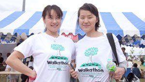 Volunteers wearing 2013 Chubu Walkathon T-shirts