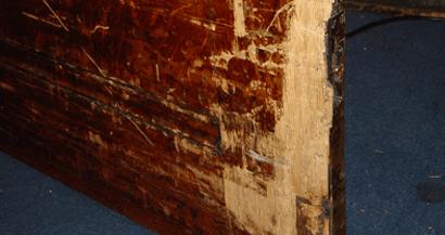 wood disaster damaged