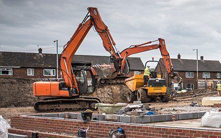 building demolition machinery