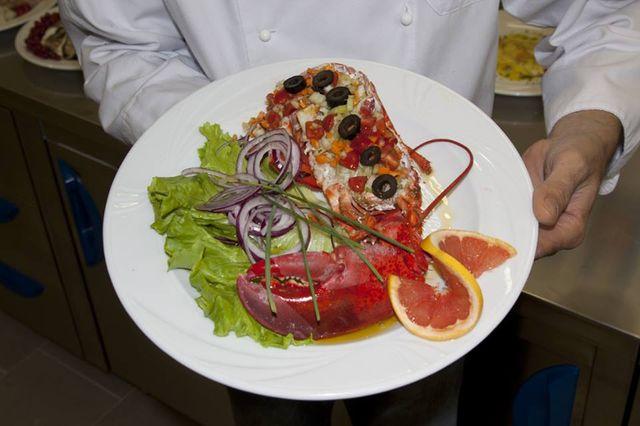 Piatto di aragosta a Piazzola sul Brenta