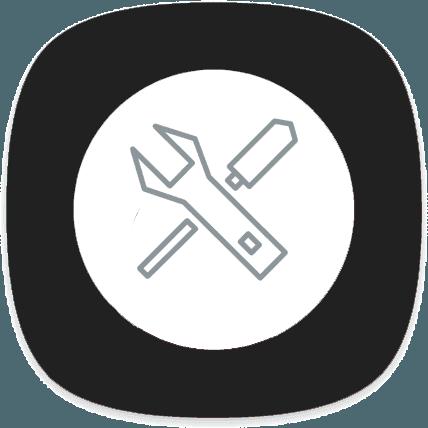 icona chiave inglese e cacciavite