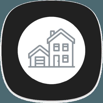 icona casa con garage