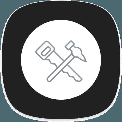 icona martello con sega
