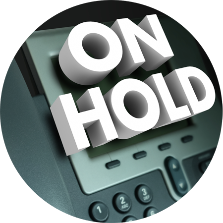Personalized on-hold message