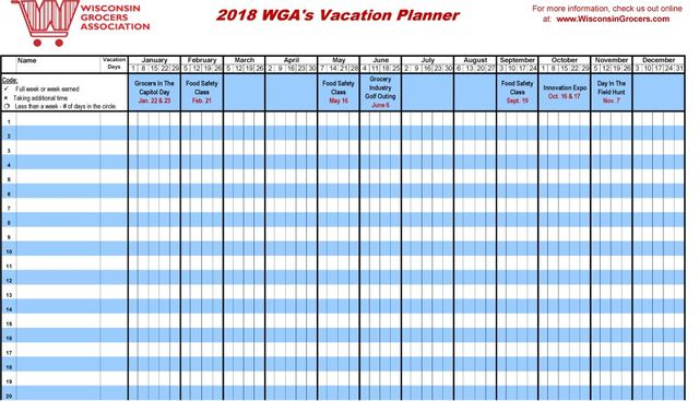 2016 Vacation Planner