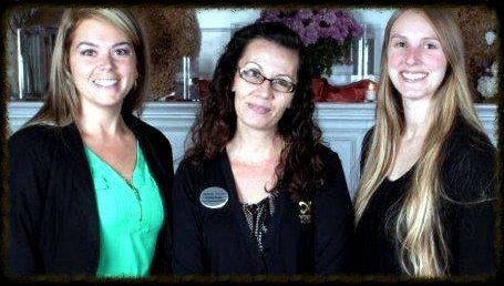 From left, Chasity Barbour, Event & Operations Manager; Robbin Reams, Event & Operations Assistant; Anneliese Burgess, Operations Technician