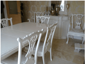 White Shabby Chic Dining Room Furniture