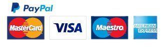PayPal VISA AMEX logos