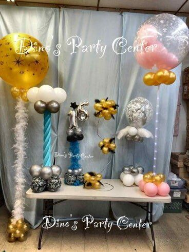 Centerpieces philadelphia pa dinos party center balloon center piece and column balloon centerpieces in philadelphia pa junglespirit Images