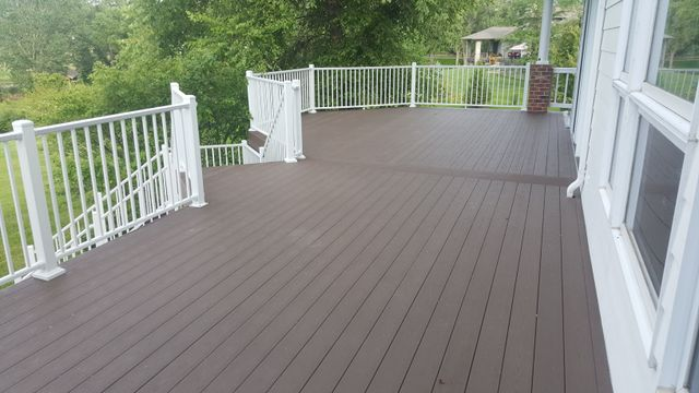 Composite decks and apoxy floors