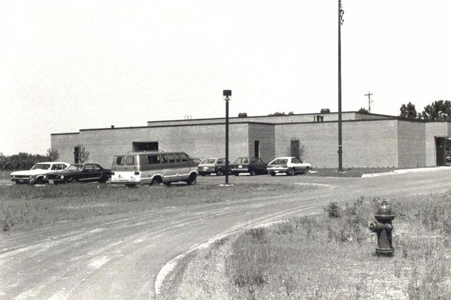 old photo of alpha group building