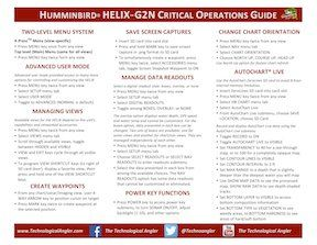 Humminbird Quick Reference cards