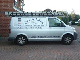 Satellite installation - Poole - David Lake & Coastal Aerials Ltd - Van