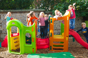 children playing at playcare nursery