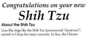 AKC pronunciation of Shih Tzu