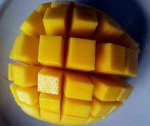 diced mango fruit