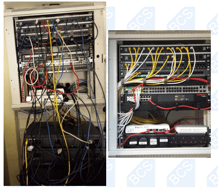 before and after organised cabling