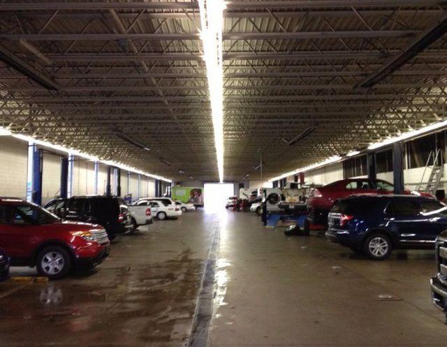 Garage after a lighting upgrade