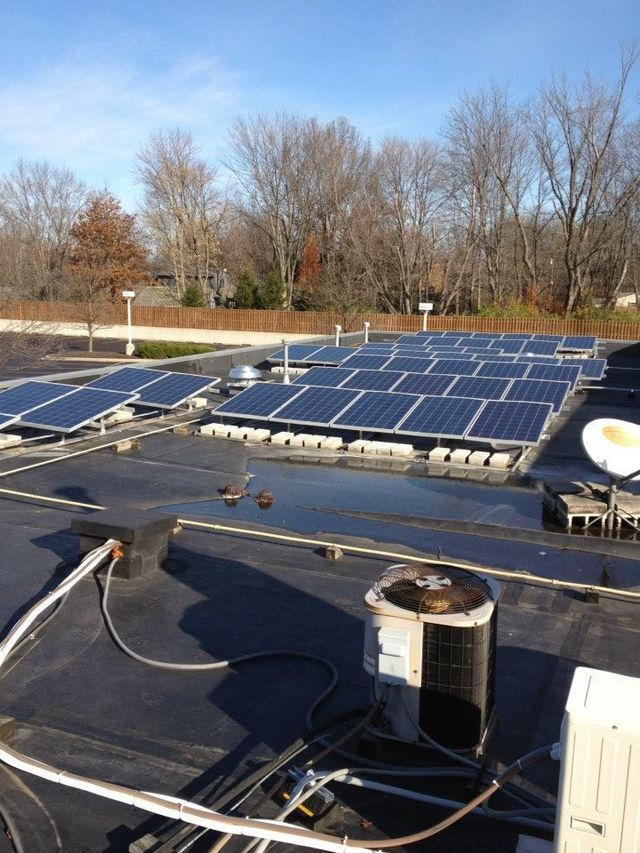 Solar panels as part of the energy-saving technology we install