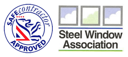 Safe Contractor Approved, Steel Window Association Logos