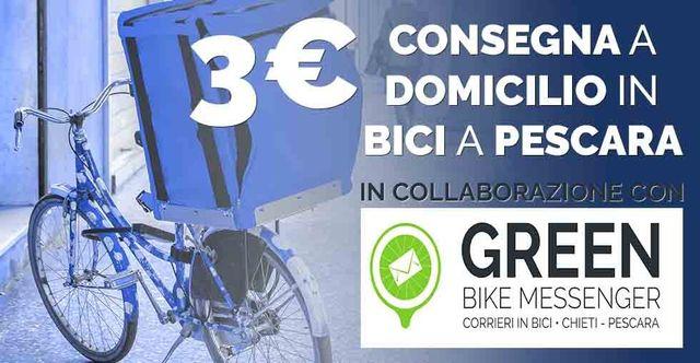 consegna a domicilio in bicicletta