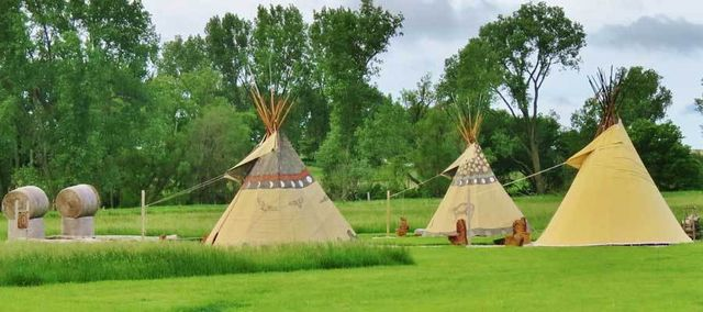 Native American Tee Pees At Hole N' The Wall Lodge
