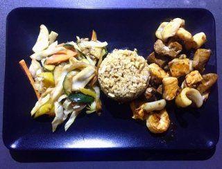 misto di pesce e riso