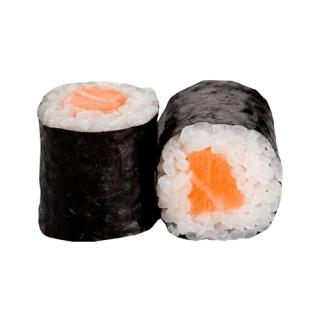 un maki al salmone
