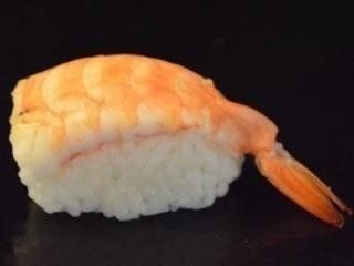 del sushi con un gambero
