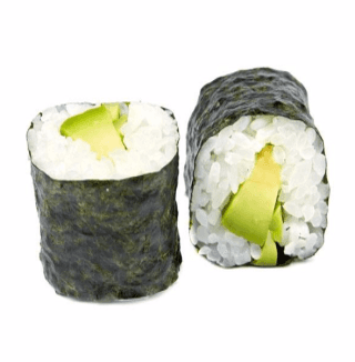 un maki all'avocado