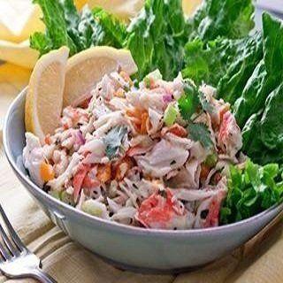 insalata con misto di pesce