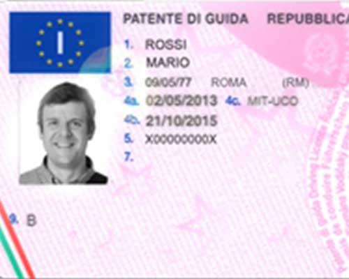 una patente di guida