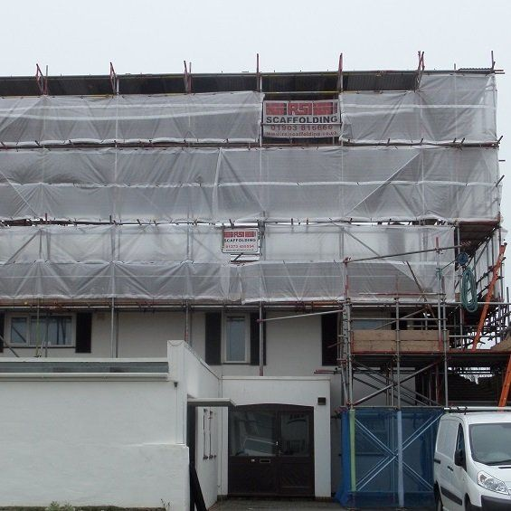 Scaffolding erection