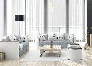 white themed living room interiors