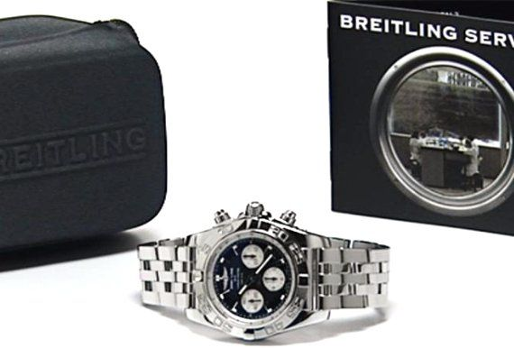Breitling pouch and service booklet when the watch is returned to customer