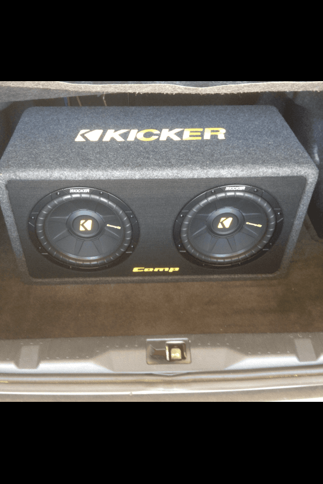 Speakers installed in a car in Foley, AL.