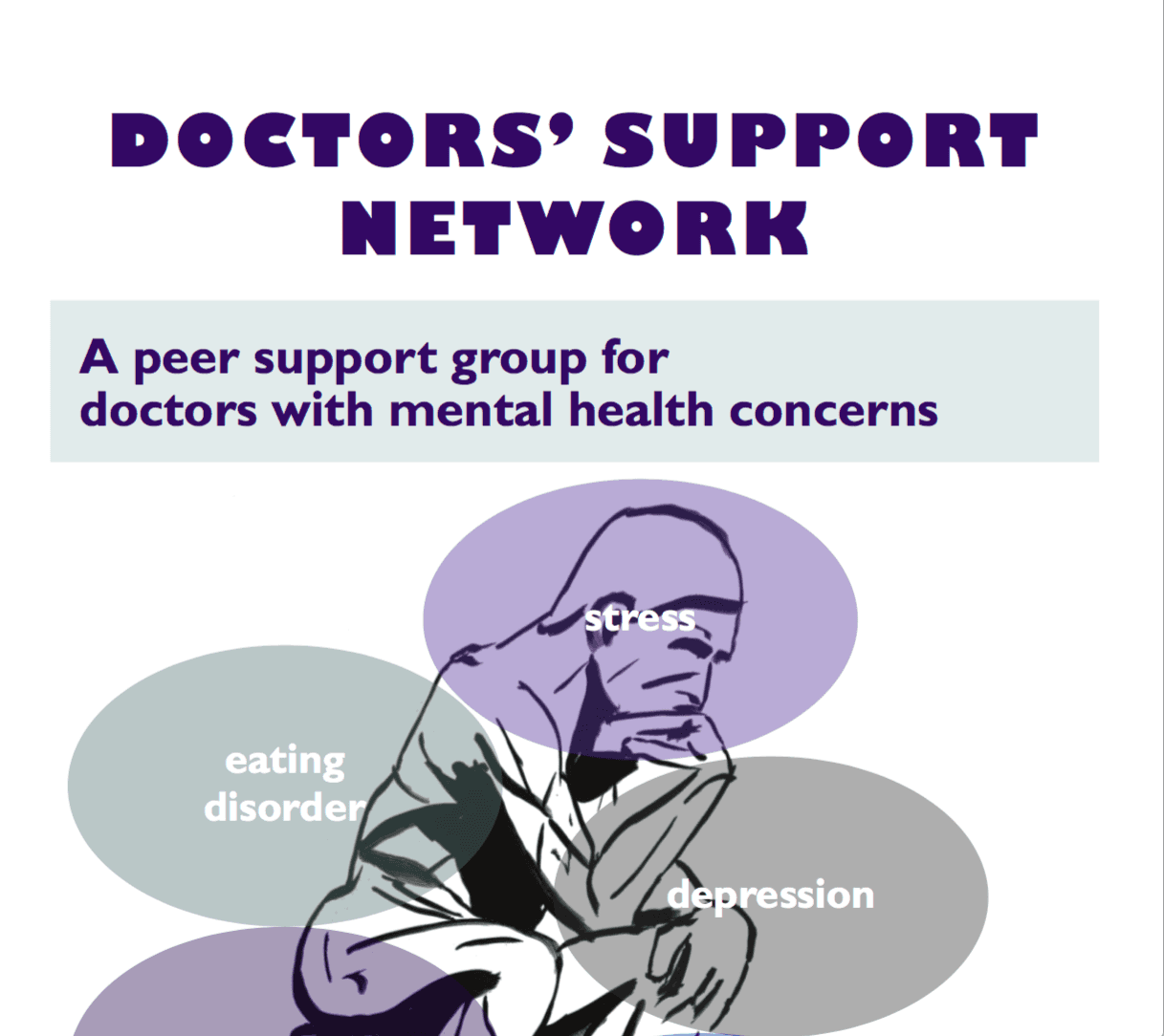 Doctors' Support Network 2016 DSN A4 poster mental health